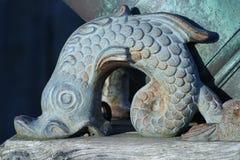 Poissons en bronze image stock