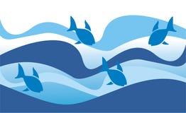 Poissons en mer Images libres de droits