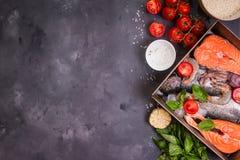 Poissons et fruits de mer assortis Image stock