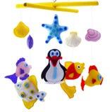 Poissons et pingouin Photographie stock libre de droits