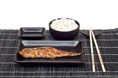 Poissons et riz Image libre de droits