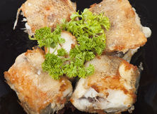 Poissons frits Image libre de droits