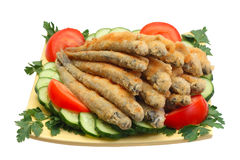 Poissons frits Image stock