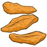 Poissons frits illustration libre de droits