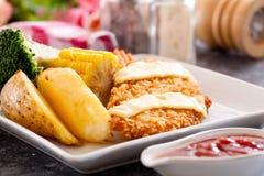 Poissons frits croustillants Photographie stock libre de droits