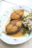 Poissons frits dans le thaifood Image libre de droits