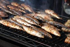 Poissons grillés image stock