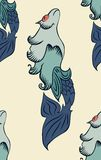 Poissons mystiques avec des rayures Illustration Libre de Droits