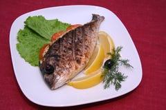 poissons rôtis Photos stock