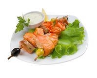 Poissons roast.close-up Images stock
