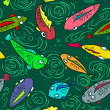 Poissons sans couture Photo stock