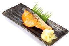 Poissons saumonés de nourriture du Japon à ailettes Photos stock