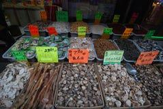 Poissons secs - ville de la Chine Image stock