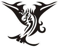 Poissons tribals avec les ailes ouvertes Image libre de droits