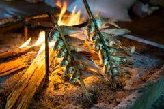 Poissons tribals de style grillés Photos stock