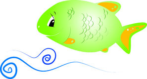 Poissons verts illustration libre de droits
