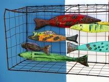 Poissons vitrés colorés Images libres de droits