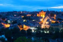 Poitiers bij nacht Stock Fotografie