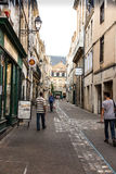 Poitiers, France - September 12, 2016: Alley in the old town of Stock Images
