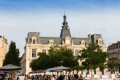 Poitiers, France - September 12, 2016: Town Hall, Hotel de Ville Royalty Free Stock Photos