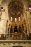 Poitiers, France - 12 septembre 2016 : À l'intérieur de l'église du St Photographie stock