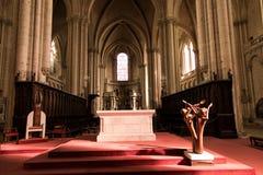 Poitiers, France - 12 septembre 2016 : Intérieur de l'église de Photo libre de droits