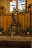 Poitiers, Francia - 12 de septiembre de 2016: Parte del interior de t Fotografía de archivo