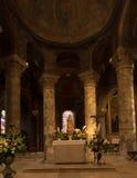 Poitiers, Francia - 12 settembre 2016: Diga molto vecchia di Notre della chiesa Immagine Stock Libera da Diritti