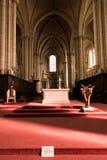 Poitiers, Francia - 12 settembre 2016: Interno della chiesa di Fotografia Stock Libera da Diritti