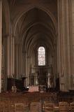 Poitiers, Francia - 12 settembre 2016: Interno della chiesa di Fotografia Stock