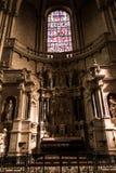 Poitiers Francja, Wrzesień, - 12, 2016: Wnętrze kościół Obrazy Stock