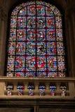 Poitiers Francja, Wrzesień, - 12, 2016: Wnętrze kościół Zdjęcie Royalty Free
