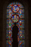 Poitiers, Frankreich - 12. September 2016: Bunte Buntglas wi Stockfotografie