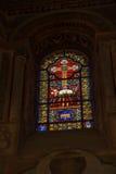 Poitiers, Frankreich - 12. September 2016: Bunte Buntglas wi Stockfoto