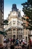 Poitiers Frankrike - September 12, 2016: Gränd i den gamla staden av Arkivfoto
