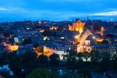 Poitiers na noite Fotografia de Stock