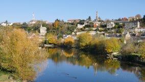 Poitiers, stad van Frankrijk Gefilmd in november stock video