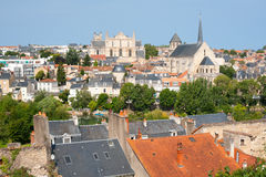 Poitiers at a summer day Stock Photography