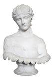 Poitrine antique d'isolement d'une belle dame Image libre de droits