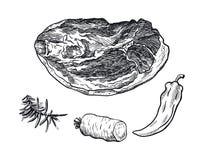 Poitrine et épices de boeuf illustration libre de droits
