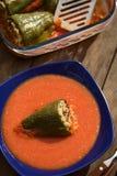 Poivre bourré cuit au four par Hongrois images stock