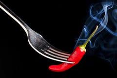 Poivre d'un rouge ardent Image libre de droits