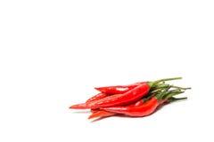 Poivre de Cayenne rouge de piment ou de piments d'isolement sur le fond blanc Photo stock