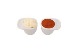 Poivre de mayonnaise et de Cayenne Photographie stock