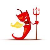 Poivre de piment d'un rouge ardent avec le trident de diables Photo stock