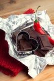 Poivre de piment et chocolat de noir Photographie stock libre de droits