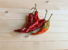 Poivre de piment sec Photos stock