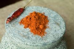 Poivre de piments de Cayenne - la terre Images stock