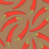 Poivre de piments de croquis dans le style de vintage Image libre de droits