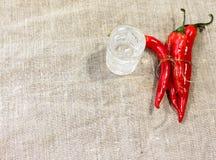Poivre de /poivron d'un rouge ardent Photo libre de droits